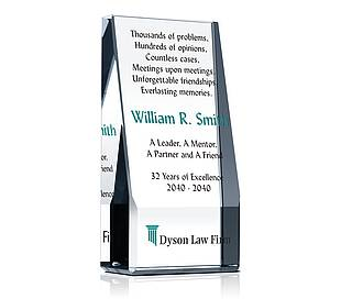Wedge Lawyer Retirement Award Plaque