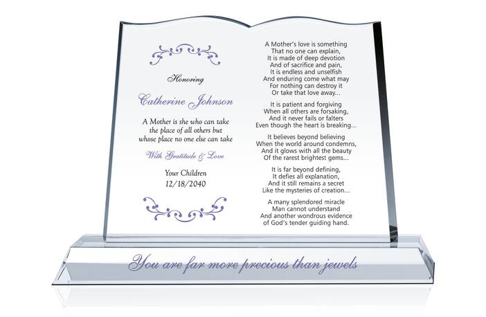 Personalized Mother's Day Gift Plaque