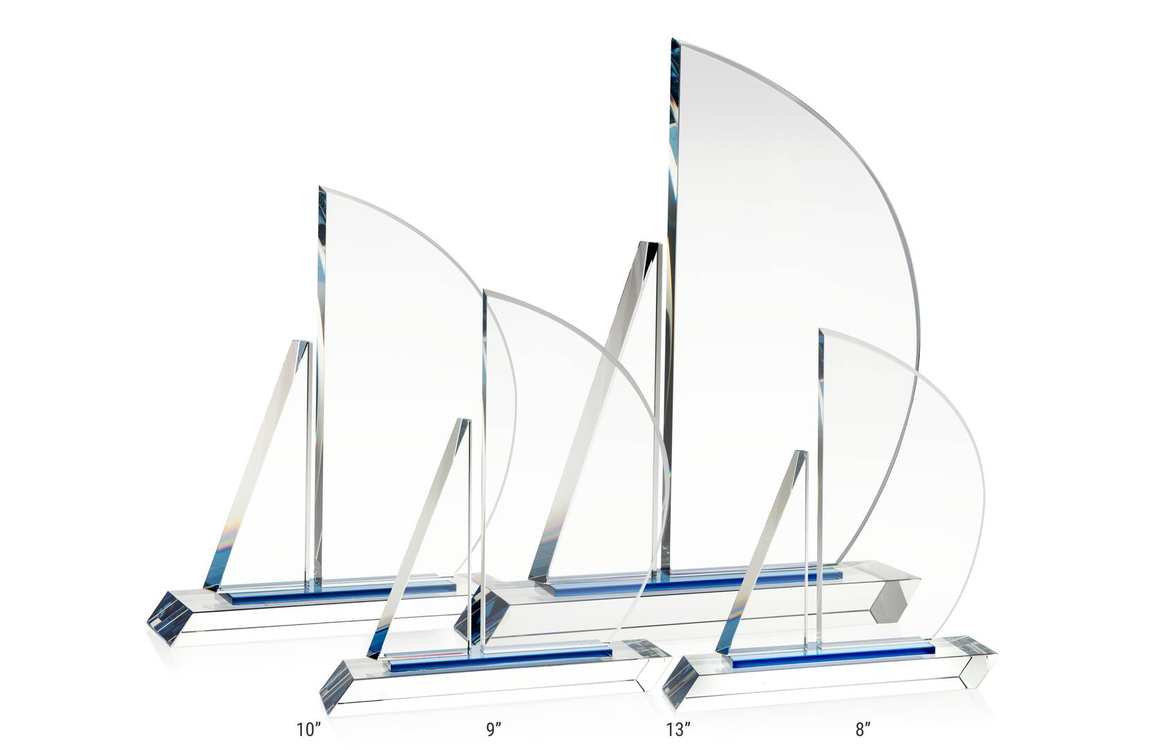 Crystal Sailboat Award Plaque