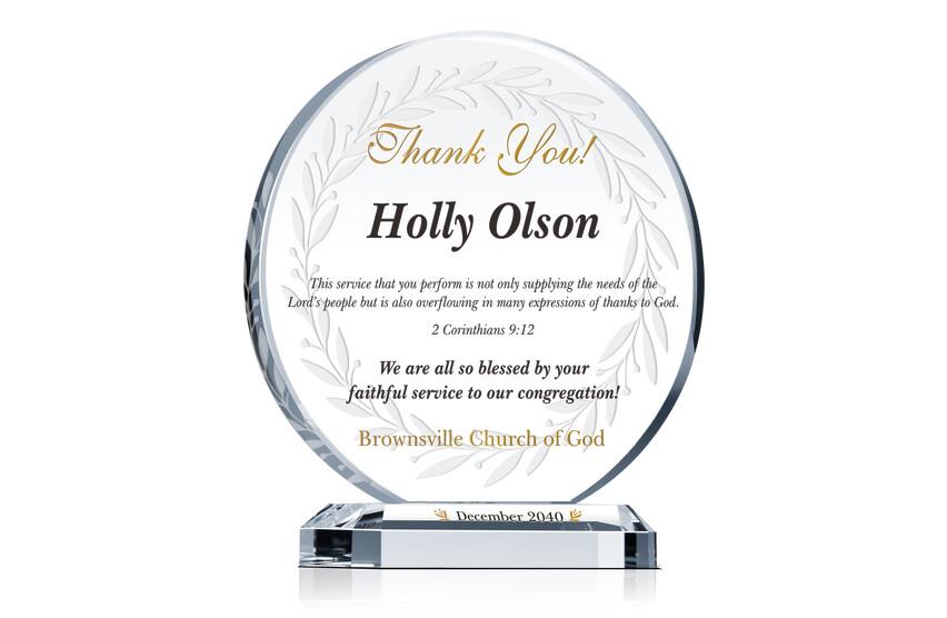 Circle Employee Appreciation Award Plaque