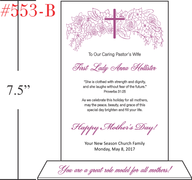Mother's Day Gift To Pastor's Wife