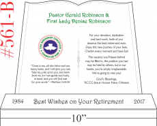 Farewell Wishes to Retiring Pastor and Wife