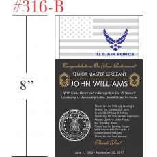 Air Force Retirement Gift for Sergeant