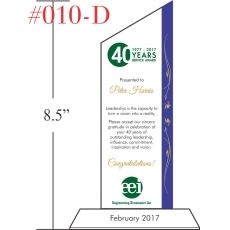 40 Year Long Service Award Sample - Wording Sample by Crystal Central