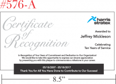 Sample Service Recognition Certificate Ideas