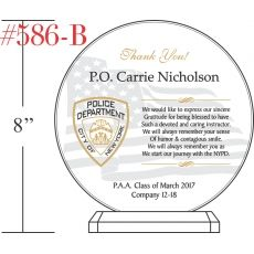 Sample NYPD Graduation Gift Plaque