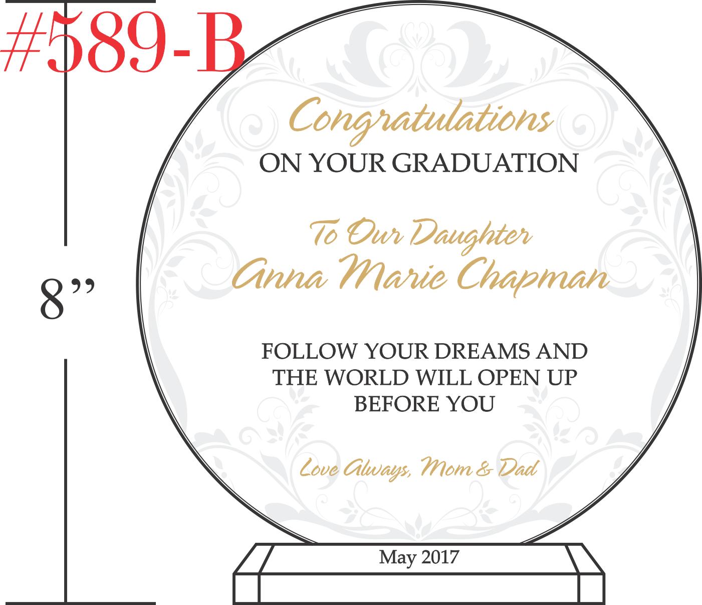 Sample High School Graduation Gift