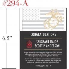 Marines Promotion Achievement Gift