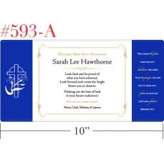Sample Religious Graduation Gift Plaque