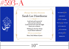 Sample Religious Graduation Gift Plaque