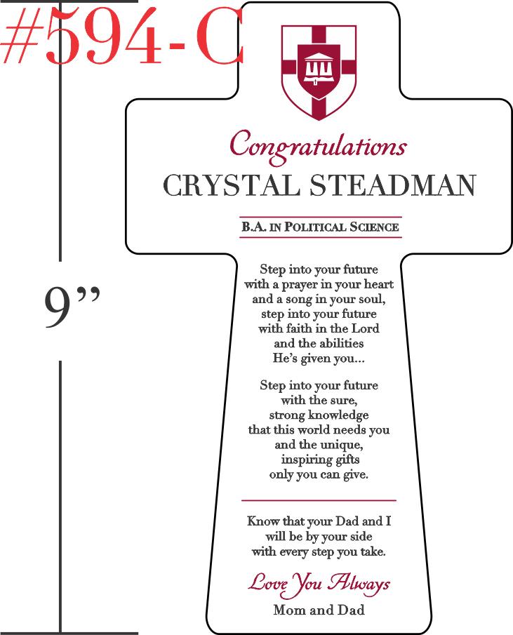 Christian Graduation Prayer Plaque