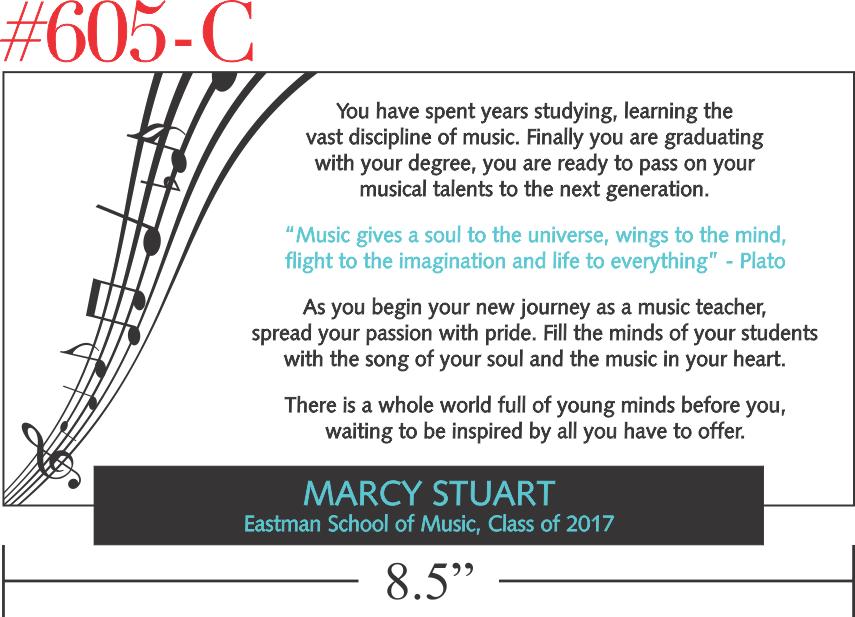 Music Teacher Graduation Gift