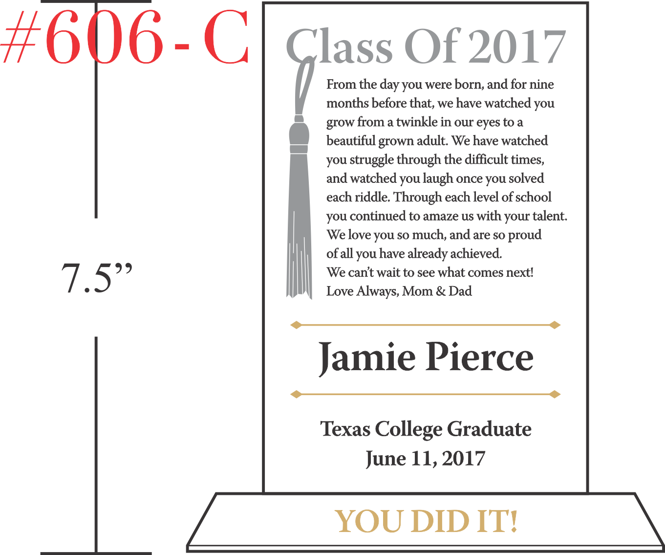 Graduation Tassel Plaque