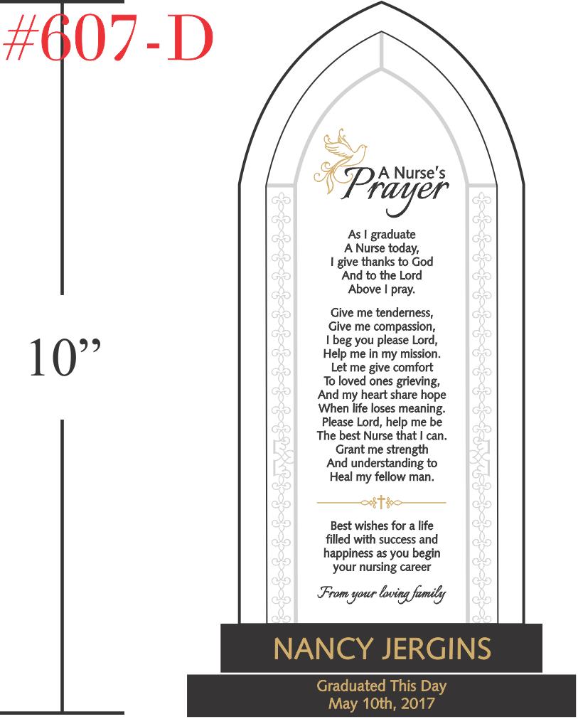 A Nurse's Prayer Plaque