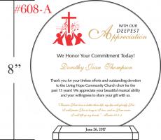 Church Choir Appreciation Day Gift Crystal Central