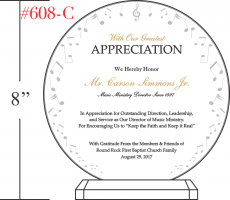 Music Ministry Director Appreciation Plaque Wording