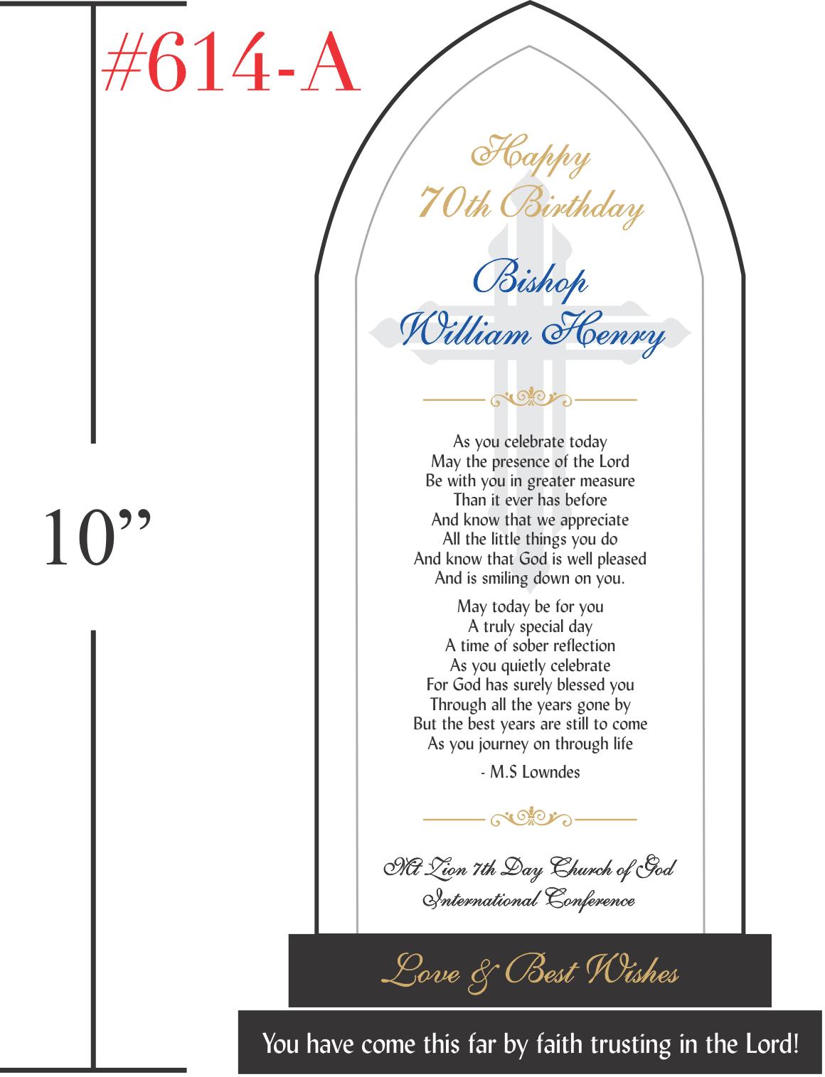 Happy Birthday Poem to Pastor