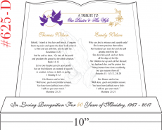 Pastor and Wife Anniversary Gift Plaque - Crystal Central