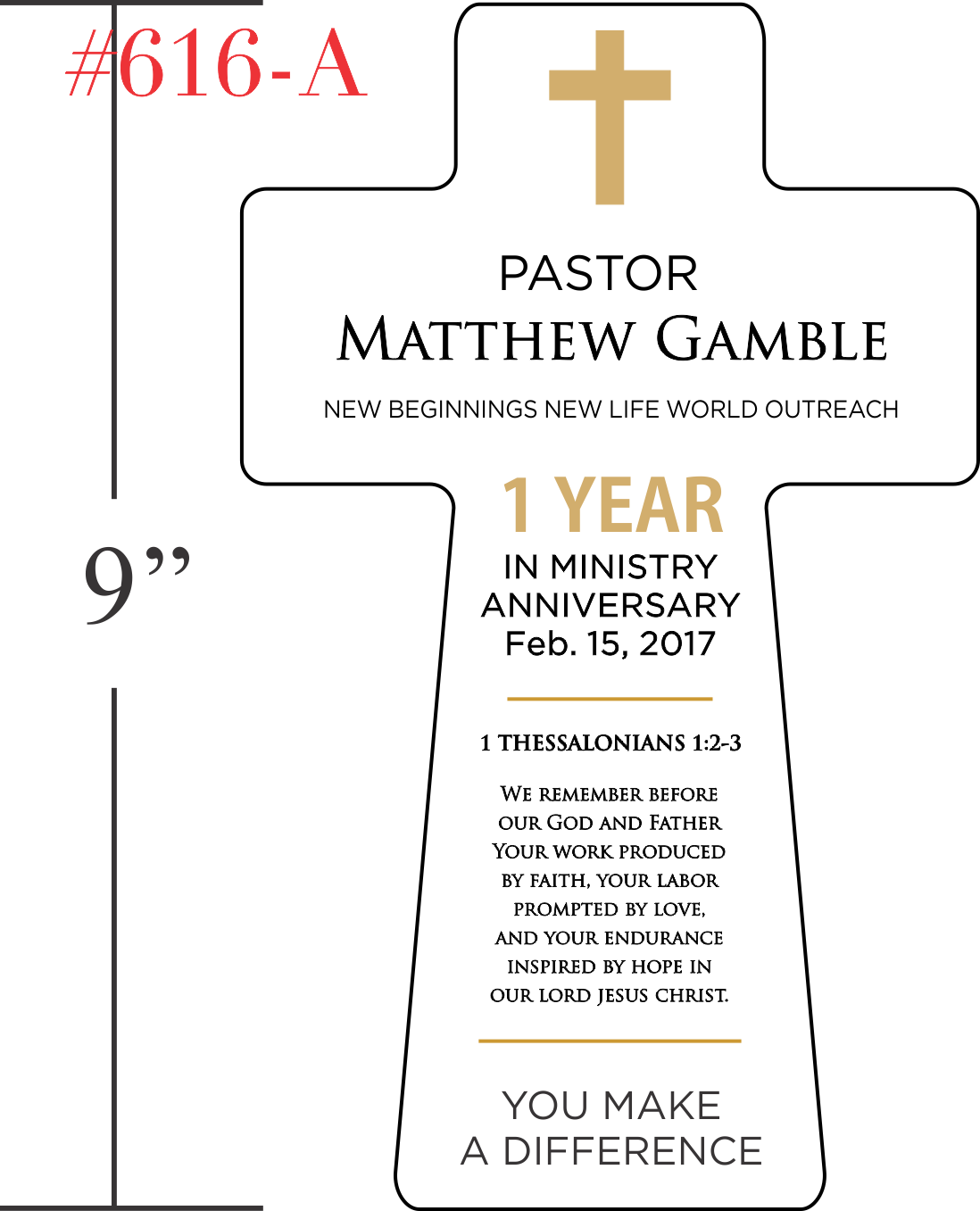 1 Year in Ministry Anniversary Gift