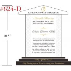 Pastor 50th Anniversary Plaque with Sample Verse