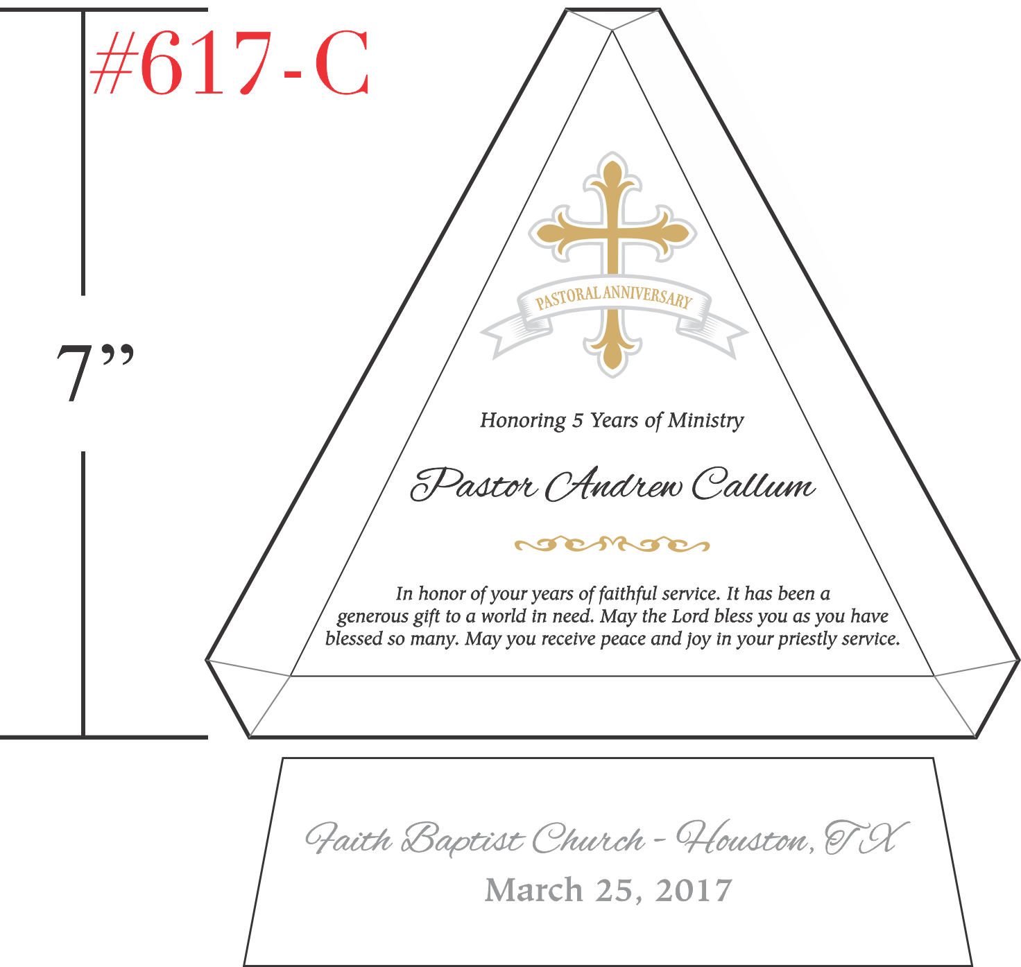 5 Years of Ministry Pastor Anniversary Gift