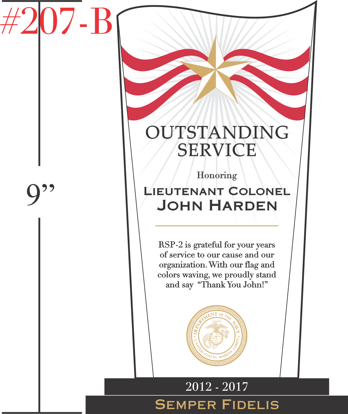 Military Service Recognition Gift