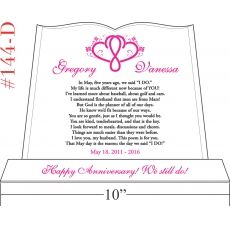 Marriage Vows Wedding Anniversary Gift