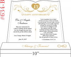 15 Years Anniversary Gift for Couple