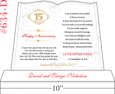 15th Anniversary Quote & Bible Verse