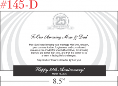 Silver Wedding Anniversary Gift for Parents
