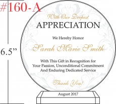 Circle Appreciation Gift Plaques Crystal Central