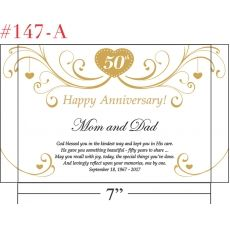 Wedding Anniversary Gift For Mom And Dad : ... Anniversary Gift for Parents > Happy Golden Anniversary to Mom and Dad