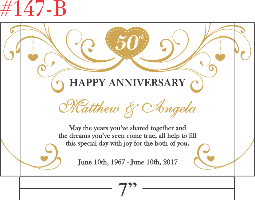Happy 50th Anniversary Gift for Parents
