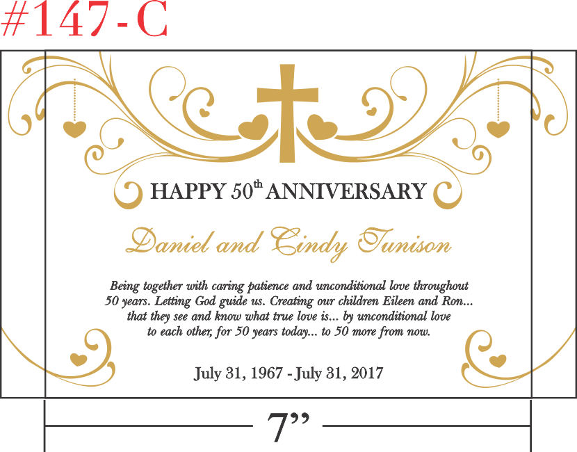 Gift Idea for Spouse on Golden Anniversary