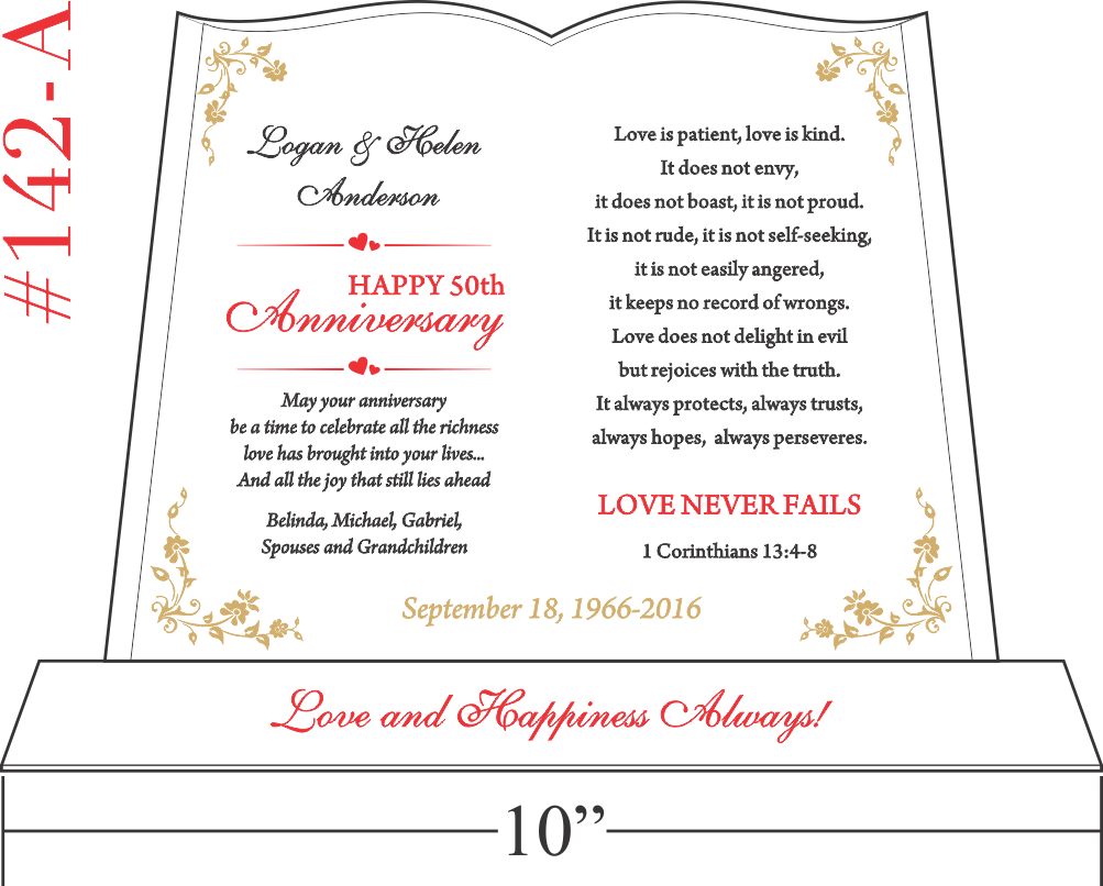 Love Never Fails Anniversary Gift