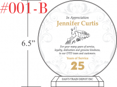 Circle Service Recognition Plaques Crystal Central