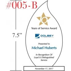 10 Years of Service Award Sample