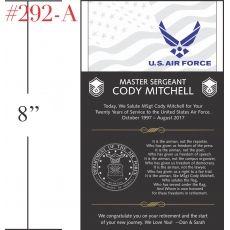 American Flag - Airman Poem Retirement Gift