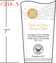 Police Safety Leadership Award Plaque