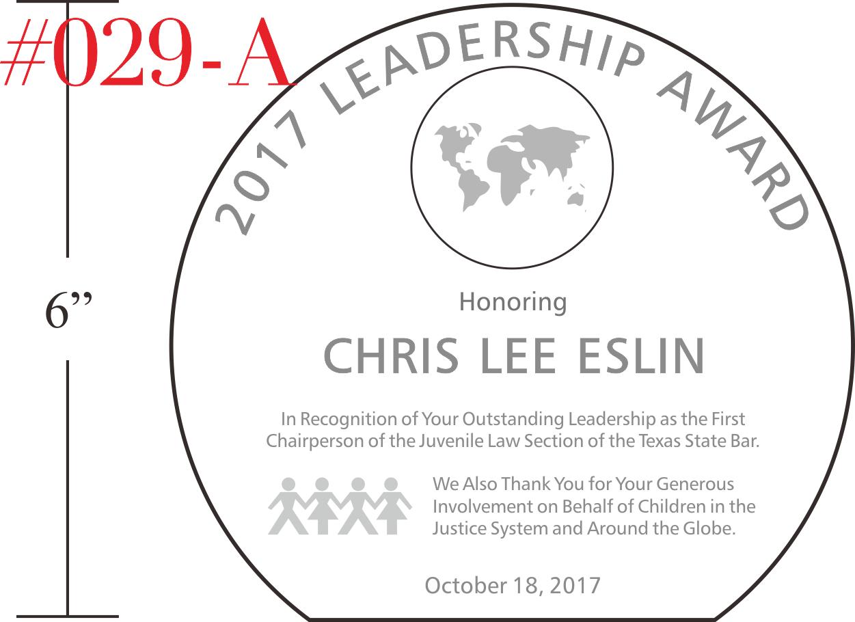Globe Leadership Award Plaque