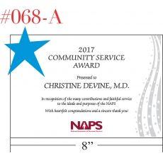 customer service award wording