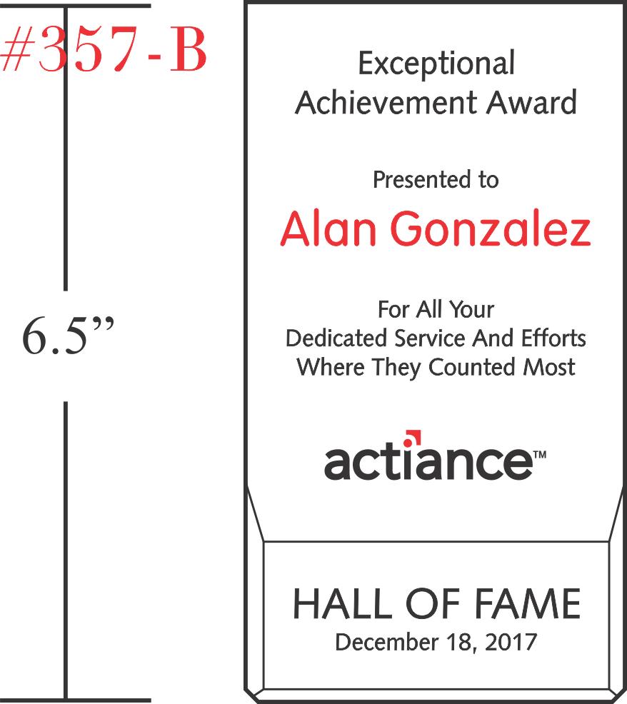 Wedge Exceptional Achievement Award