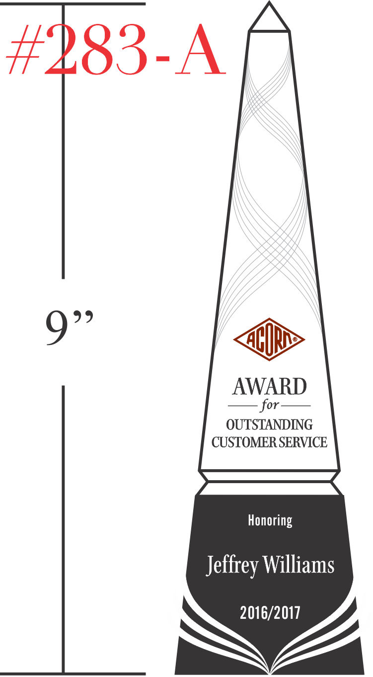 Award for Outstanding Customer Service