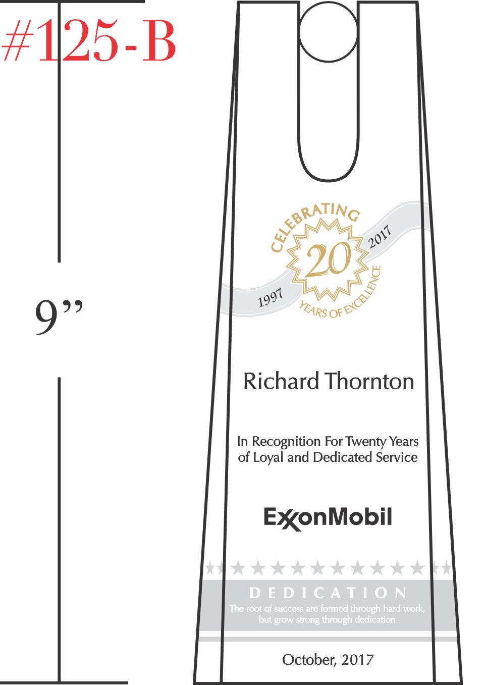 Service Recognition Award Plaque