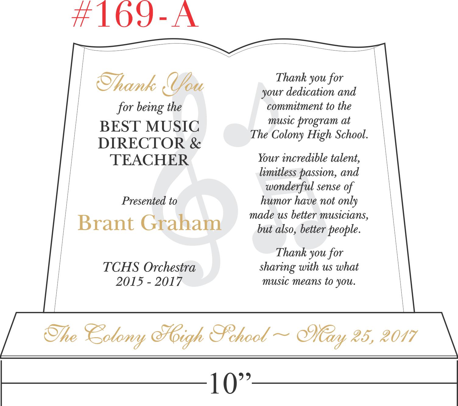 Music Director Appreciation Gift Wording