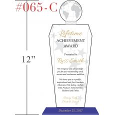 Lifetime Achievement Award Recognition Wording Sample by Crystal – Achievement Award Wording
