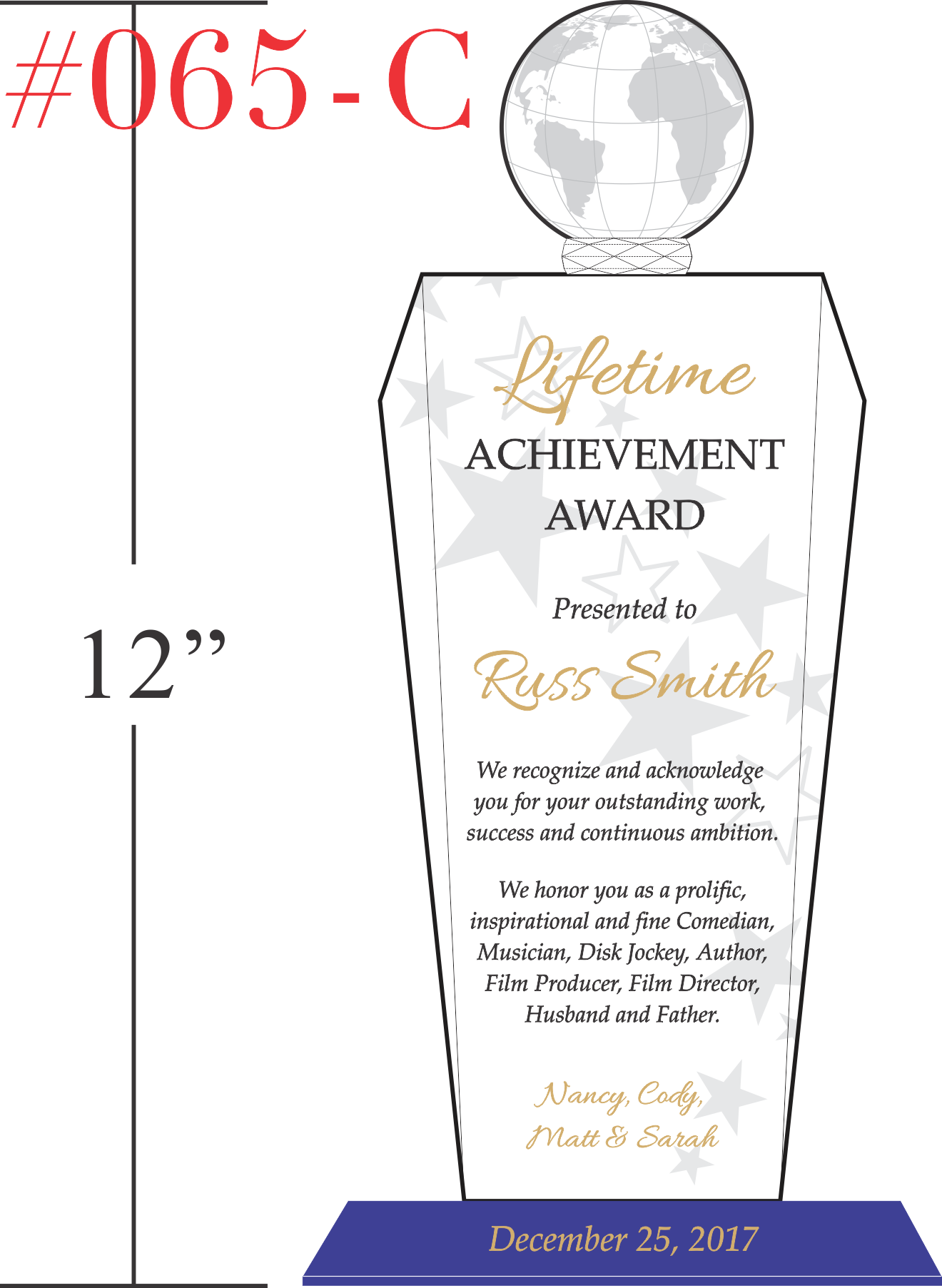 Lifetime Achievement Award Recognition