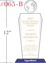 Marvelous International Achievement Award Plaque  Achievement Award Wording