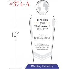 teacher of the year award wording sample by crystal central