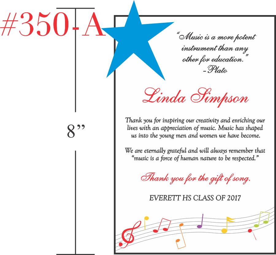 Appreciation Gift for Music Teacher